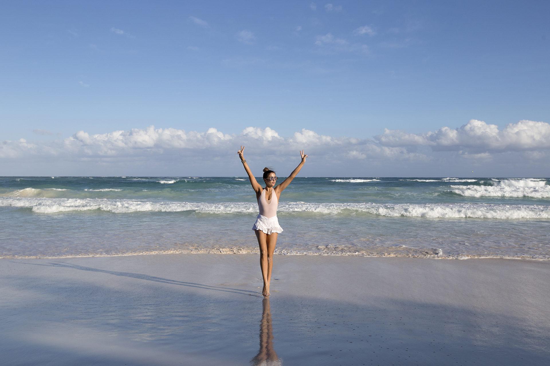 The beach Tulum Mexico