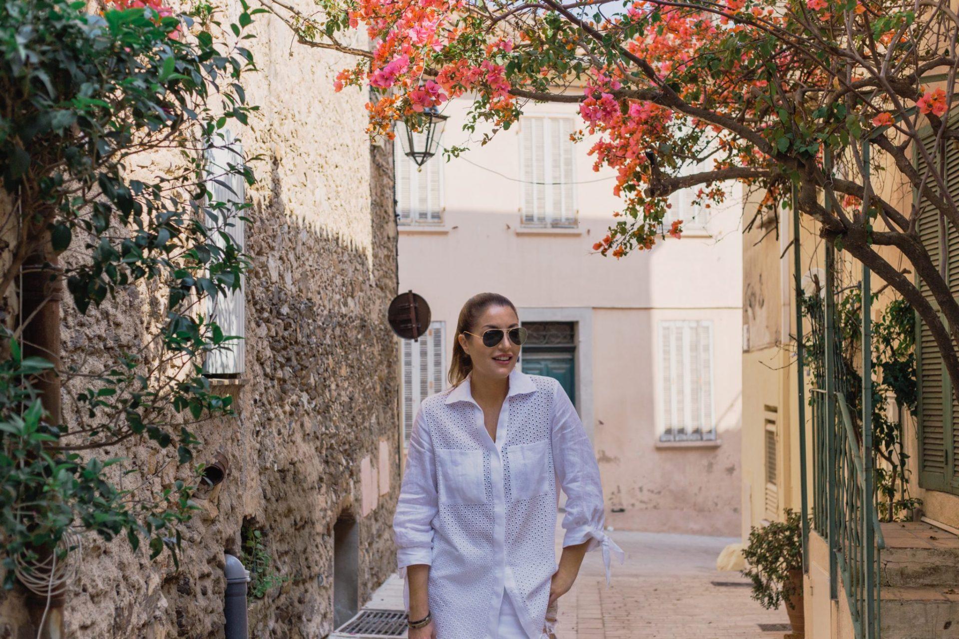 St Tropez exploring cobblestone streets