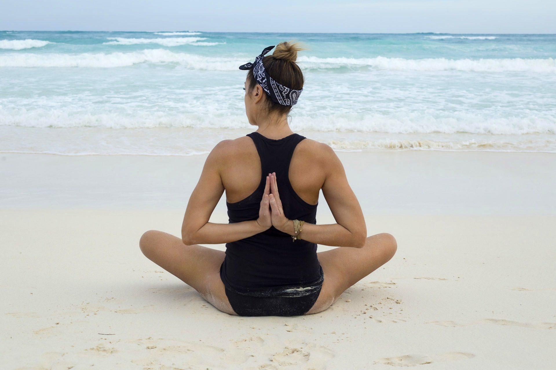 Yoga on Tulum Beach